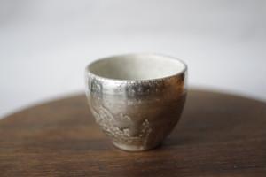 茶杯 銀彩×ビードロ 谷井直人