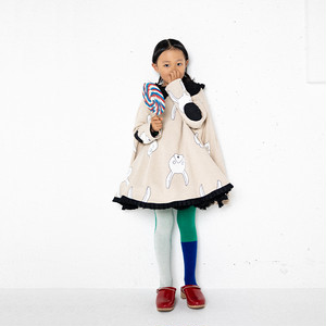 TOTAL HANDLE PONCHO SWEAT DRESS