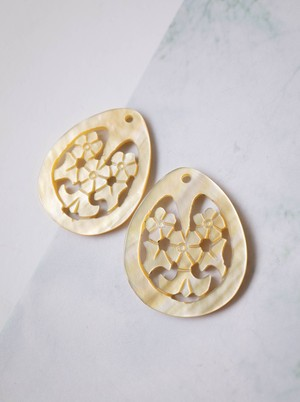 Open Worked Shell / 2 pieces SET - 006