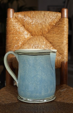 CRISTASEYA Ceramic Pitcher Blue