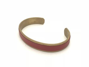 RE.ACT Buttero Leather Rail Bangle Red