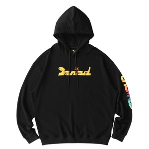 MAISON EMERALD Colorful Star Hoodie BLACK