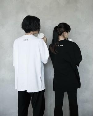 KRM BACK LOGO CRASH  T-SHIRT (BLACK / WHITE)