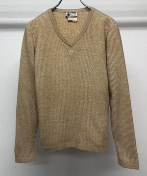 1980s COURREGES HOMME EMBROIDERED SWEATER