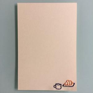 刺繍ポストカード(朝食)