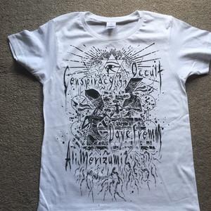 DAVE FROMM 陰謀Tシャツ WHITE