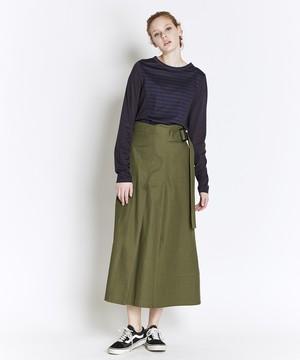 【予約】トレンチディティールスカート(カーキ)