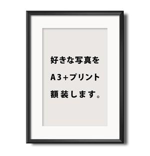 【限定5枚】 お好きな写真をA3+プリント w/ frame
