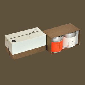 小缶2本箱 八十八夜の茶/香ばしほうじ胡麻ほうじ