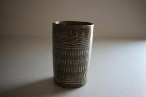 小林耶摩人|灰三島筒杯A