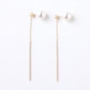 人気商品)pearl and swing stick ピアス【P-010】