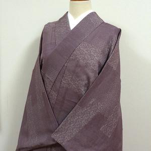 古代紫色に江戸小紋調 小紋