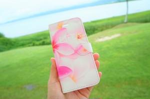LIFE is プルメリア手帳型スマホケース iPhone Plus、Android L用