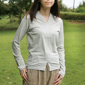 CSTS-150 オーガニックコットン天竺VネックTシャツ