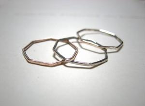 八角形 K10ゴールドの八角形リング(1~20号)