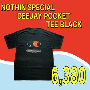 NOTHIN'SPECIAL  / DEEJAY POCKET TEE BLACK