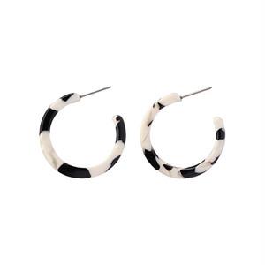 cow marble hoop pierce