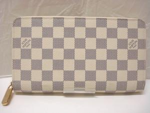 LOUIS VUITTON ルイ・ヴィトン ダミエアズール ジッピー・オーガナイザー N60012 ラウンドファスナー財布 白x紺碧