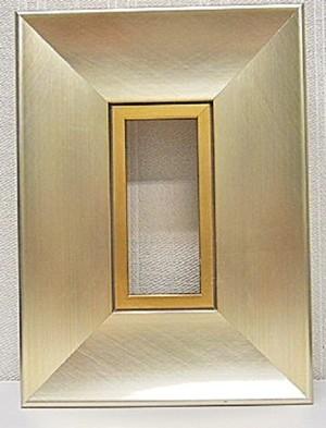 ミニ額シルバーF-10137額縁寸法100mm×50mm窓枠寸法84mm×34mm壁掛け