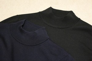 MICHELACCI DANILO Mock Neck Knit Navy&Black