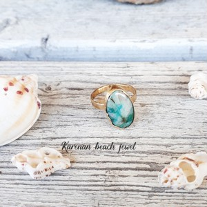 beach ring - gem silica-
