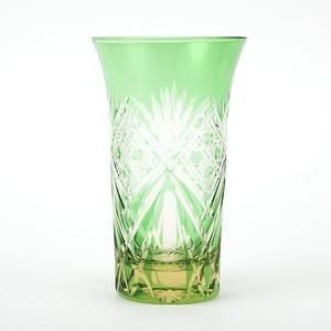 数量限定 江戸切子 伝統工芸品 ビールグラス 冷酒グラス 送料無料 無料包装 結婚祝 還暦祝 記念品 退職祝 誕生日プレゼント 海外土産 琥珀色緑被せ