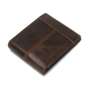 Leather Wallet Leather Purse Vintage Multifunction Wallet ショート レザー ビンテージ 財布 パスケース (YYB0-0919542)