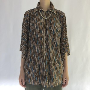 70's mademoiselle | half zip poncho blouse (V4944A)