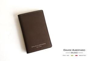 【9月末限定価格】ダヴィデ アルベルタリオ  DAVIDE ALBERTARIO グレインレザー定期入れ パスケース トープ