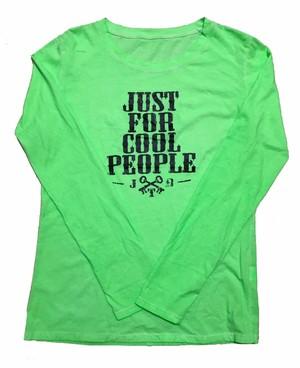 【JTB】NEW JUST FOR ロングスリーブTシャツ【蛍光グリーン】イタリアンウェア【送料無料】《M&W》