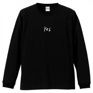 「Yes」ロングスリーブTシャツ