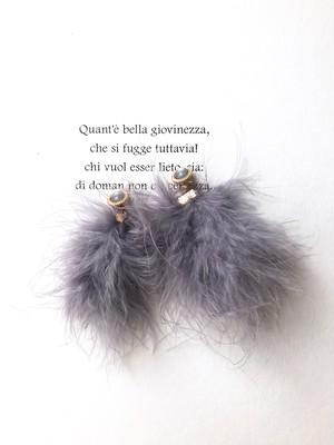 Purple feathers pierce (パープル フェザーズ ピアス)