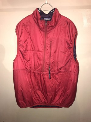 patagonia puffball vest  XL Red MADE IN U.S.A 90s UT-2379