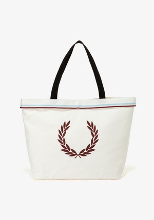 TWIN TIPPED TOTE BAG WHITE