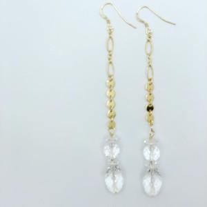 Crystal Quartz Earrings 14KGF