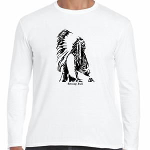 シッティング・ブル(タタンカ・イヨタケ) インディアン 歴史人物ロングTシャツ064