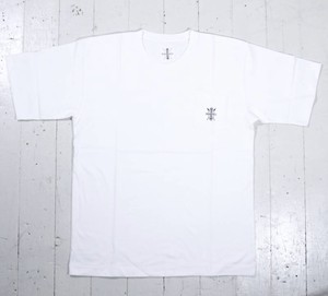 maasaisロゴ刺繍Tシャツ(ポケT)【WHITE】