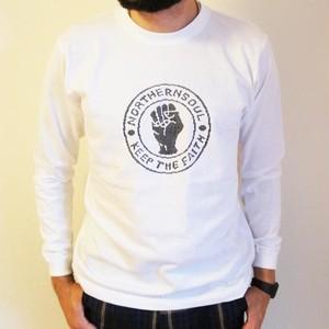 NORTHERN SOUL 長袖Tシャツ WHITE