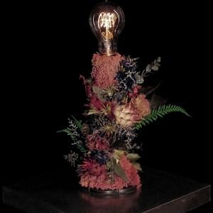 Artichokes & 10 color flower lamp
