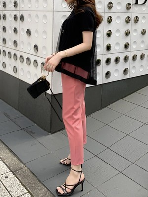 cropped color pants / pink (即納)