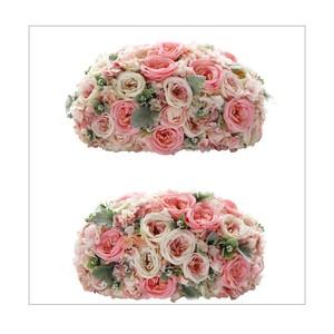 ピンクバラの高砂装花(約W40㎝×2個セット)メインテーブル・ウェルカムスペースに最適