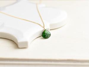 程よいコクのあるグリーン クロムオブダイオプサイド 一粒14kgfネックレス