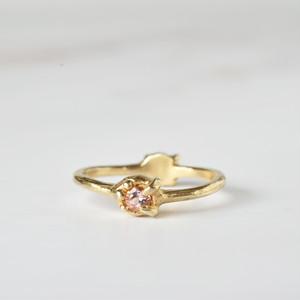 2-way ring (ピンクトルマリン×ゴールド)