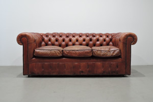 Chesterfield 3 Seaters Sofa All leather Vintage