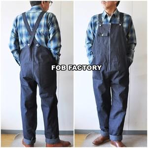 FOB FACTORY エフオービーファクトリー デニムオーバーオール F0479 メンズ オーバーオール