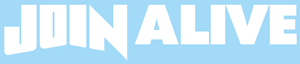【送料全国一律100円】JOIN ALIVE カッティングステッカー(ホワイト)