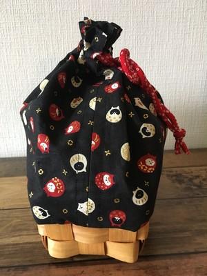 浴衣にぴったりな籠付き巾着バッグ【竹細工×大き目サイズ】