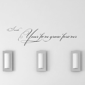 Your love grow foreverのウォールステッカー