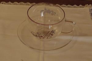 Many ロココ ガラスカップソーサー