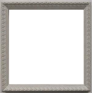 額縁アンティークおしゃれフレーム正方形11-6486白 額縁寸法200mm×200mm 窓枠寸法188mm×188mm 2mmアクリル/裏板付/ /壁掛け用/箱付き/完品